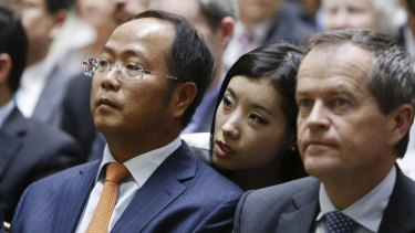 Huang Xiangmo and Bill Shorten.