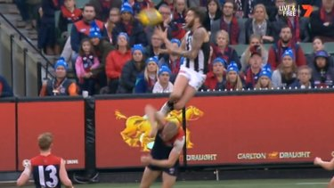 Jeremy Howe's mark from round 12, against Melbourne, was thought to have been a lock for mark of the year.