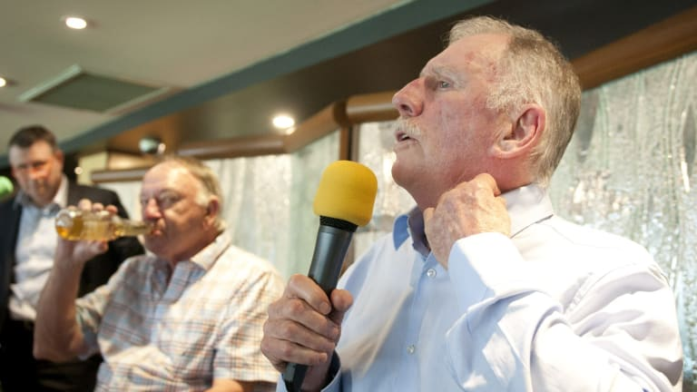 Former Test cricketers Ian Chappell (Right) and Doug Walters tell tall stories and true at the Queensland Cricketers Club.