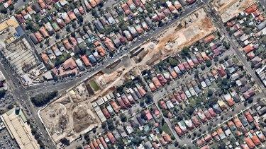 WestConnex construction through Haberfield.