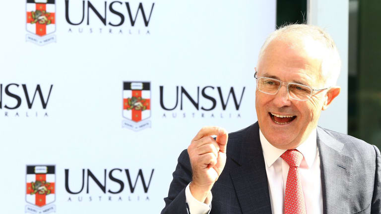 Malcolm Turnbull at UNSW on Friday.