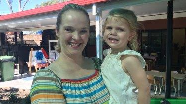 Brisbane mum Liz Howes, 37, with daughter Isobel, 3.