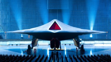 A 2013 picture of an unmanned British stealth drone that can fly faster than the speed of sound. Flight testing for the drone was carried out in Australia.