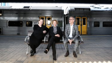 Carriageworks director Lisa Havilah, MCA director Elizabeth Ann Macgregor and AGNSW director Michael Brand say their new Australian art biennial will not compete with the Biennale of Sydney.