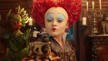 Iracebeth, the Red Queen (Helena Bonham Carter) returns in Disney's <i>Alice Through the Looking Glass</i>, another sequel that struggled at the box office.