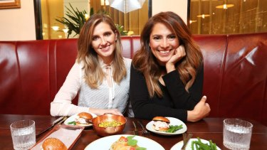 Sally Obermeder (right) lunching with Kate Waterhouse at Mr G's, InterContinental Sydney, Double Bay.
