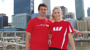 Ex-West Coast Eagle Andrew Embley and wife Rayne are Westpac ambassadors for the Swan River Run.