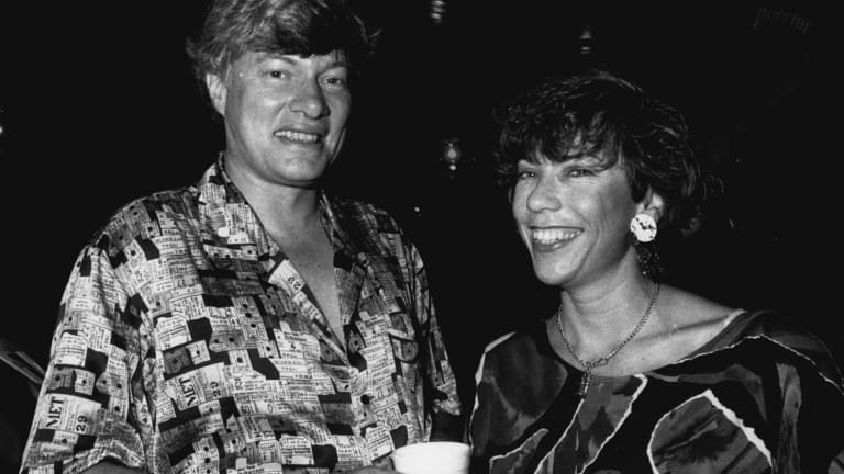 Geoffrey Robertson and Kathy Lette in March 1992.