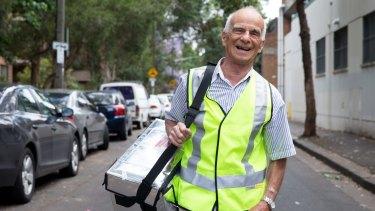The inventor of the Paddle Pop, John Karlik, 85, volunteers for Meals on Wheels in Sydney.