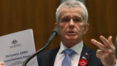 Senator Malcolm Roberts has spoken of a 'cabal' of 'international bankers'.