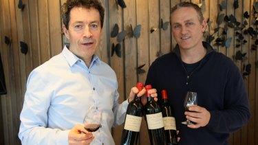 Penfolds chief winemaker Peter Gago heaped praise on two of Greg Kilner's three bottles of 1951 Grange.