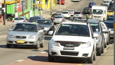 Plans for transformation: Parramatta Road near Leichhardt.