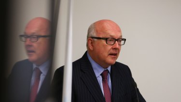 """George Brandis: """"Our law has a very specific definition of terrorism."""""""