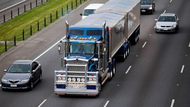 The biggest B-double heavy vehicles must use Melbourne's inner-city roads to move goods in and out of the port.