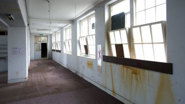 ''A lot of work to be done'': The old Collingwood Technical School, before works began.