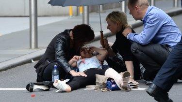 An injured child.