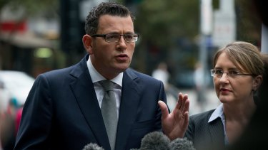 Premier Daniel Andrews and Transport Minister Jacinta Allan annoucne the government will build the Metro Rail Tunnel.