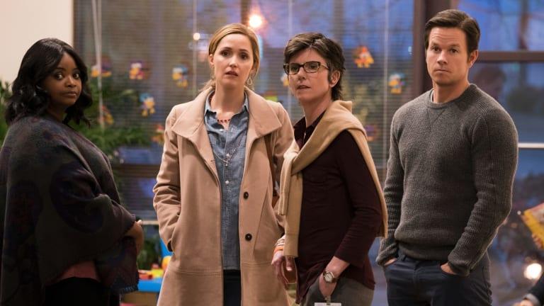 Octavia Spencer (left) Rose Byrne, Tig Notaro and Mark Wahlberg star in <i>Instant Family</I>.