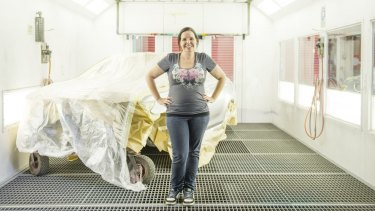 Vehicle spray painter Alex Roy's love of cars and art led her to a career in the traditionally male-dominated field.