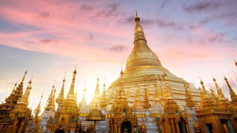 """Myanmar is often marketed as the """"golden land of a thousand smiles""""."""