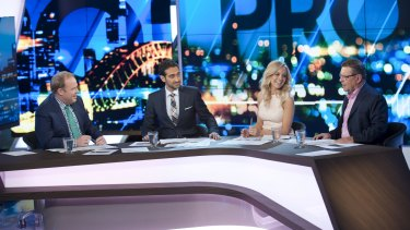 Waleed Aly at the helm of <i>The Project</i>.