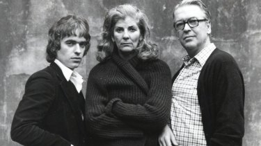 All in the family: Writers Kingsley Amis, right, with son Martin Amis and second wife Elizabeth Jane Howard.