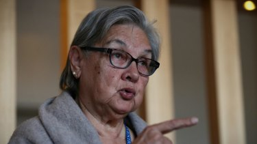 Co-chair of the Referendum Council Pat Anderson at the First Nations National Convention at Uluru.