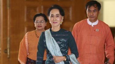 National League for Democracy party leader Aung San Suu Kyi is moving forward cautiously.