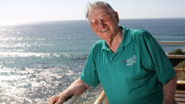 Norman May near his home at Bondi Beach.