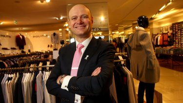 Myer chief executive Richard Umbers is investing in its private-label fashion brands to drive profitability.