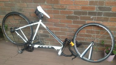 Snapped in two: Mr Ludlow's bike.