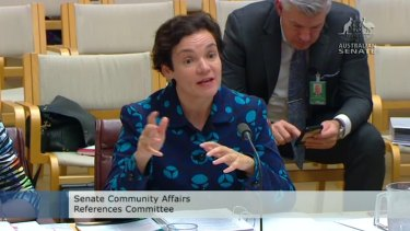 Department of Human Services secretary Kathryn Campbell detailed its expanded debt collection program at a Senate inquiry hearing on Thursday.