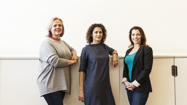 HopSkipDrive founders (from left) Janelle McGlothlin, Carolyn Yashari Becher are among entrepreneurs providing rides for children