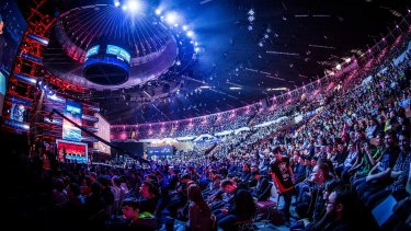 Big show: Despite big crowds in person for major events, most of eSports viewership watches online.