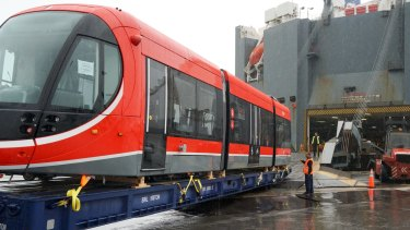 Canberra's first tram arrived last week.