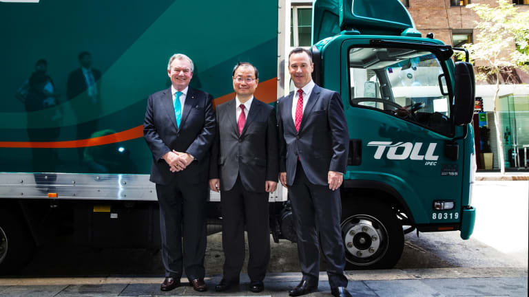 Toll trucks are now owned by the Japanese after investors accepted a $6.5b takeover bid by Japan Post.