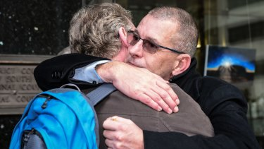 John Dunn, a sex assault victim of Francis Cable after the 83-year-old paedophile's jail sentencing on Thursday.