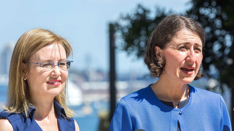 Premier Gladys Berejiklian (right) with Local Government Minister Gabrielle Upton. The court ruling against the merger of Ku-ring-gai and Hornsby councils was an untimely reminder to voters.