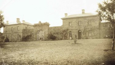 Historic image of the Beechworth Gaol.