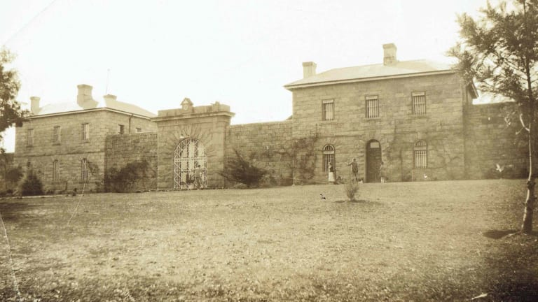 Historic image of the Beechworth Gaol.