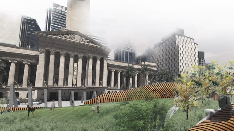 Ally Salonen designs for Plus Architecture King George Square design competition
