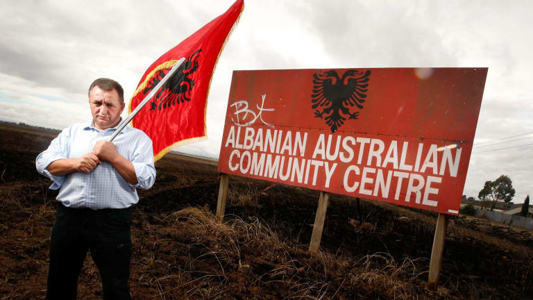 Asip Demiri on land bought by the Australian Albanian Community Association in 1989.