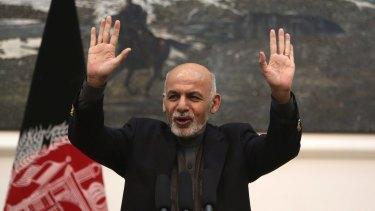 Afghan President Ashraf Ghani earlier this month.