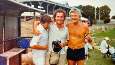 Michael Gordon (middle) with former prime minister Bob Hawke.