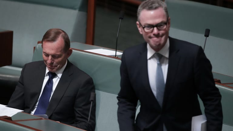 Former prime minister Tony Abbott and Christopher Pyne clashed over Mr Abbott's proposed 'pious amendment'.