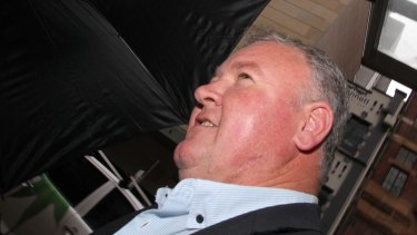 Former CFMEU NSW secretary Brian Parker pictured leaving the royal commission in Sydney on Wednesday.