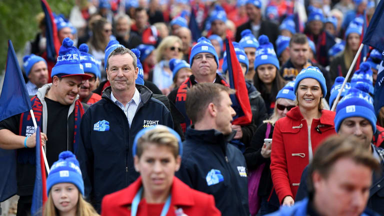 Neale Daniher lead fans to the MCG in June for the Melbourne Collingwood match, and Big Freeze 3.