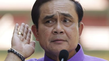 Little interest in media freedom: Thailand's Prime Minister Prayuth Chan-ocha.