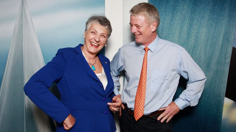 Tyro CEO Jost Stollman with new non-executive director Catherine Harris in Sydney.