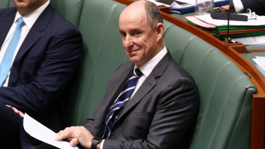 Under fire: Liberal National Party MP Stuart Robert is the latest politician to be engulfed in a donations scandal.